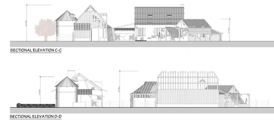 Plans for the French farmhouse set came to light in the planning application submitted to Wiltshire Council by Storyworks Production Ltd in November 2018. (SNWS)