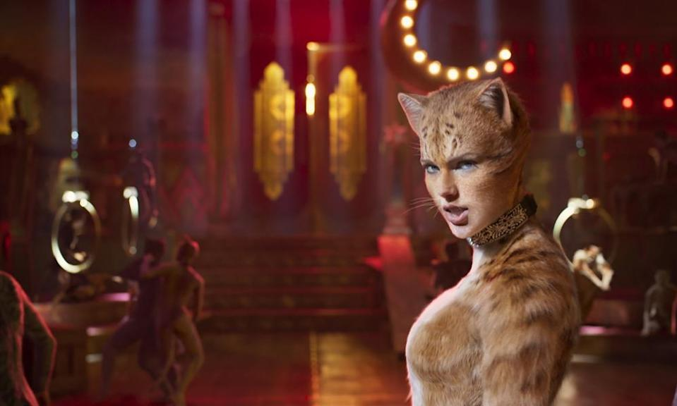 Taylor Swift as Bombalurina in the new movie adaptation of Cats.