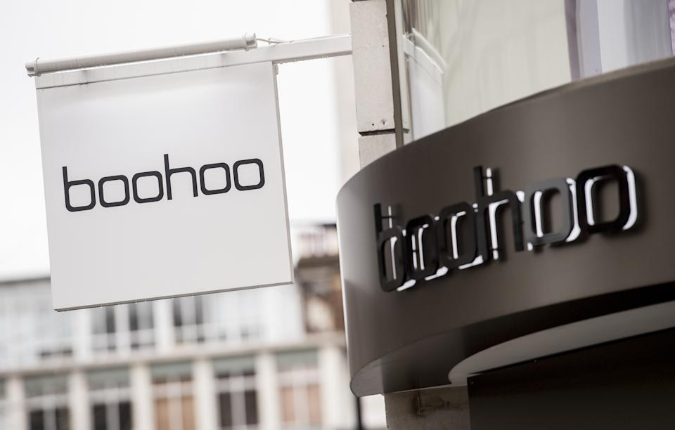 File photo dated 15/2/2021 of signage on a boohoo store in London. Boohoo has said it is not