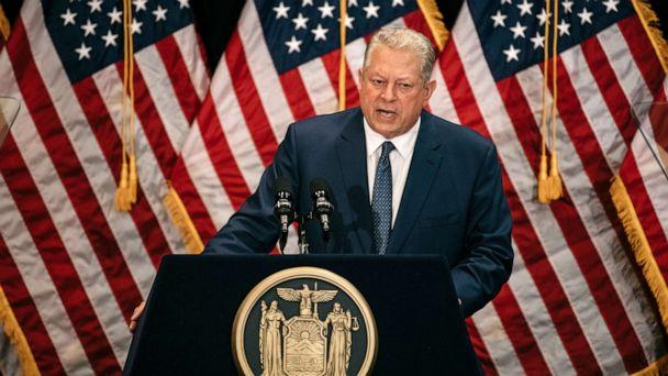 PHOTO: Former Vice President Al Gore delivers a speech on the importance of renewable energy, minutes before the Governer signed the Climate Leadership and Community Protection Act at Fordham Law School in Manhattan, July 18, 2019. (Scott Heins/Getty Images, FILE)