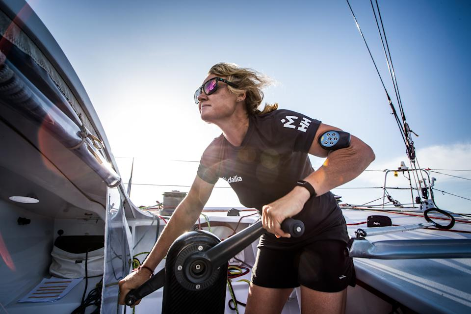 British sailor Pip Hare is gearing up for the 2024 Vendée Globe(Photo by Richard Langdon)