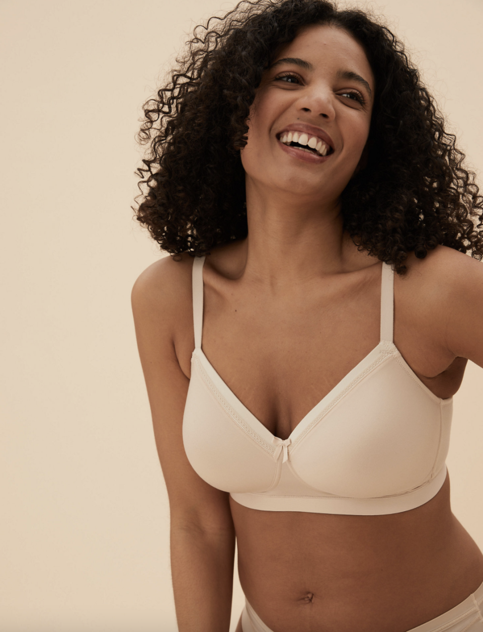 M&S' Sumptuously Soft T-Shirt Bra comes in opaline, black and white colours.  (Marks and Spencer)