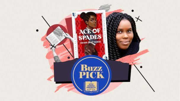 """PHOTO: """"Ace of Spades"""" by Faridah Abike-Iyimide is this week's """"GMA"""" Buzz Pick. (ABC Photo Illustration / Book Cover: Joy Olugboyega)"""