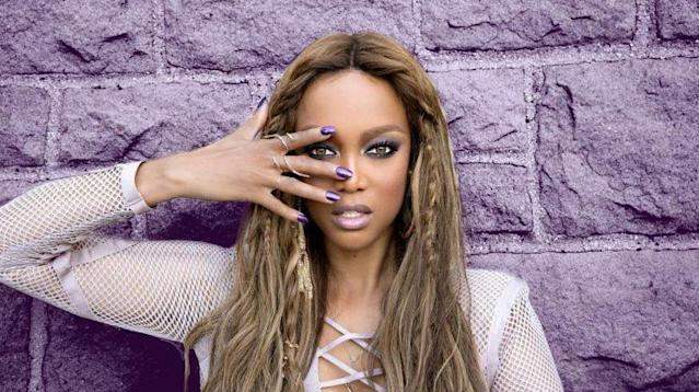 Tyra is famed for her striking eyes.