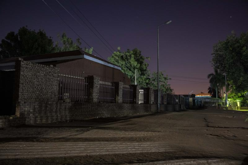 This Jan. 12, 2020 photo, shows the Khartoum Ophthalmology Hospital where several women were raped during the June 3, 2019 paramilitary crackdown on a protest camp, in Sudan. Mayada, a 22-year-old tea vendor, was followed that night by four Rapid Support Forces soldiers who harassed her. They entered the courtyard with her where she kept her plastic chairs, tea pots and cups, the tools of her trade and sprayed something in her face. She felt woozy, and the four stripped and raped her, she said. She gave birth in March to a daughter, while the other twin, a boy, died. (AP Photo/Nariman El-Mofty)