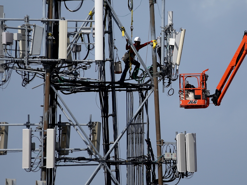 Cell tower worker