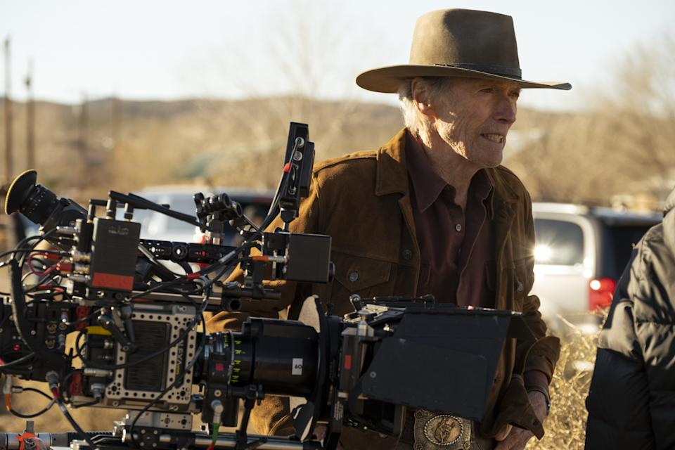Eastwood behind the camera on the set of Cry Macho (Photo: Claire Folger/Warner Bros.)