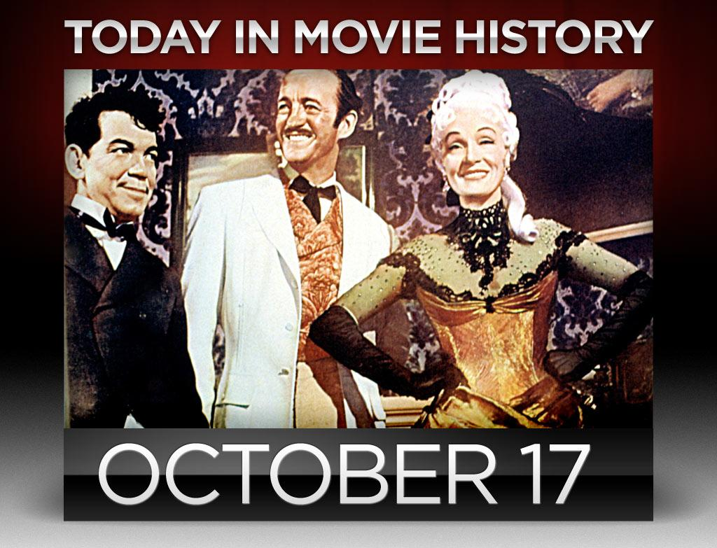 """<b>1956</b> – Ground-breaking producer Michael Todd's larger-than-life film """"<a href=""""http://movies.yahoo.com/movie/around-the-world-in-80-days-1956/"""">Around the World in 80 Days</a>"""" premiered on this day in New York City. Based on Jules Verne's eponymously titled novel, the best picture winner was shot on over a hundred locations with a who's who supporting cast including David Niven, Noel Coward, Frank Sinatra, and Buster Keaton."""