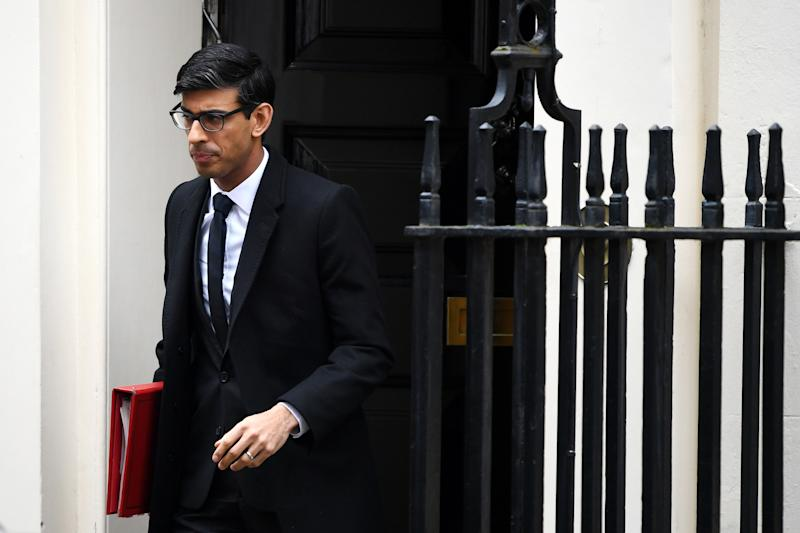 LONDON, ENGLAND - MARCH 09: Chancellor of the Exchequer Rishi Sunak leaves Downing Street ahead of a government Cobra meeting on March 9, 2020 in London, England. Prime Minister Boris Johnson called a Cobra meeting, named after the Cabinet Office Briefing Room where it takes place, of senior ministers and security officials to coordinate the British government's response to the coronavirus outbreak. (Photo by Chris J Ratcliffe/Getty Images)