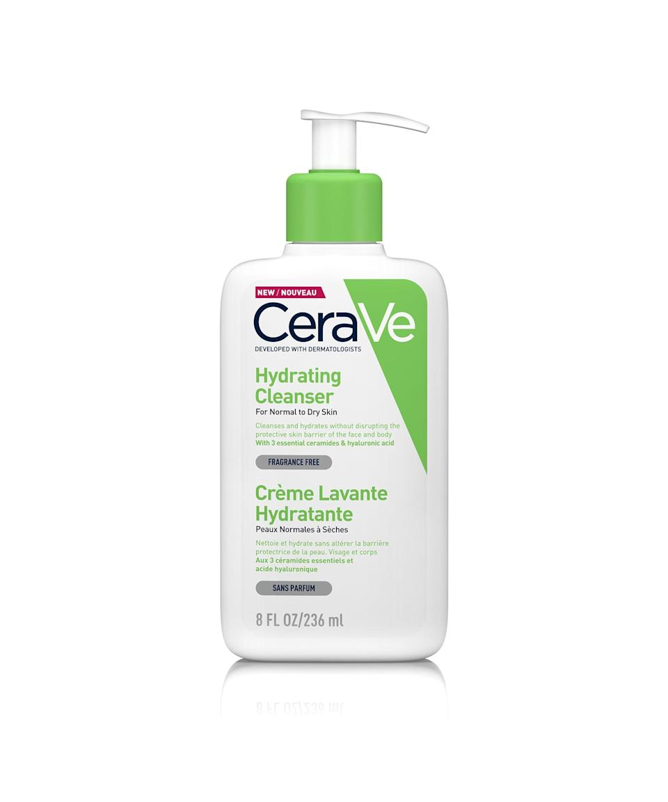 """<strong><h2>CeraVe Hydrating Cleanser</h2></strong><br>If you're a Refinery29 regular, you'll know I can't speak highly enough of this product, which cleanses and hydrates in one. It's formulated for normal to dry skin, but my combination skin (prone to breakouts and dry areas) loves it. The gentle, non-foaming texture melts away makeup, oil and daily grime quickly and without stripping the skin. Instead of leaving my skin tight or uncomfortable (a downside of plenty of cleansing products) the hydrating formula makes it soft to the touch. The best part is that it can be used on face and body.<br><br><strong>CeraVe</strong> Hydrating Cleanser, $, available at <a href=""""https://ad.doubleclick.net/ddm/trackclk/N8897.2338702REFINERY29UK/B26092508.308252624;dc_trk_aid=501203566;dc_trk_cid=154273686;dc_lat=;dc_rdid=;tag_for_child_directed_treatment=;tfua=;ltd="""" rel=""""nofollow noopener"""" target=""""_blank"""" data-ylk=""""slk:Superdrug"""" class=""""link rapid-noclick-resp"""">Superdrug</a>"""