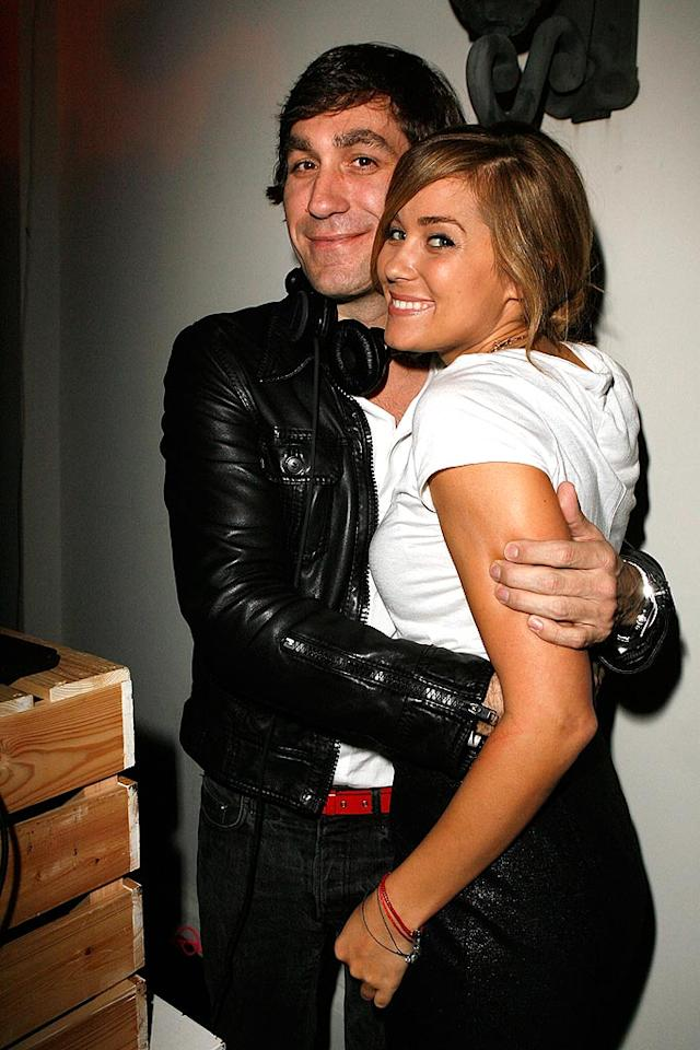 """DJ/promoter Brent Bolthouse gives L.C. a squeeze. Jeff Vespa/<a href=""""http://www.wireimage.com"""" target=""""new"""">WireImage.com</a> - October 18, 2007"""
