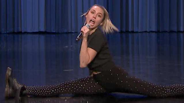 Miley Cyrus brought the energy to her uptempo Lip Sync Battle with Jimmy Fallon on Friday.