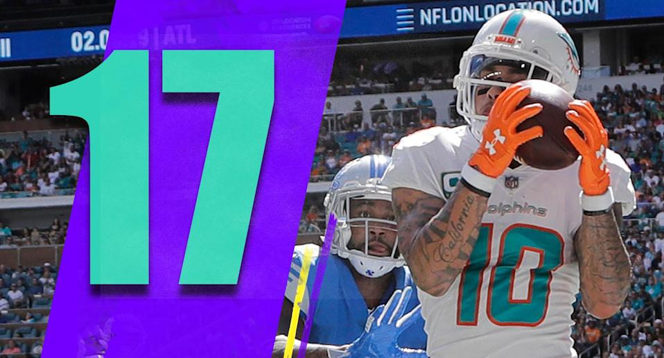 <p>Kenyan Drake had 72 yards … on six carries. Why can't Adam Gase can't figure out that Drake is good and deserves more work? (Kenny Stills) </p>