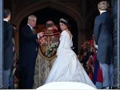 <p>She paired the tiara with emerald drop earrings which were a gift from her new husband. Photo: Getty </p>
