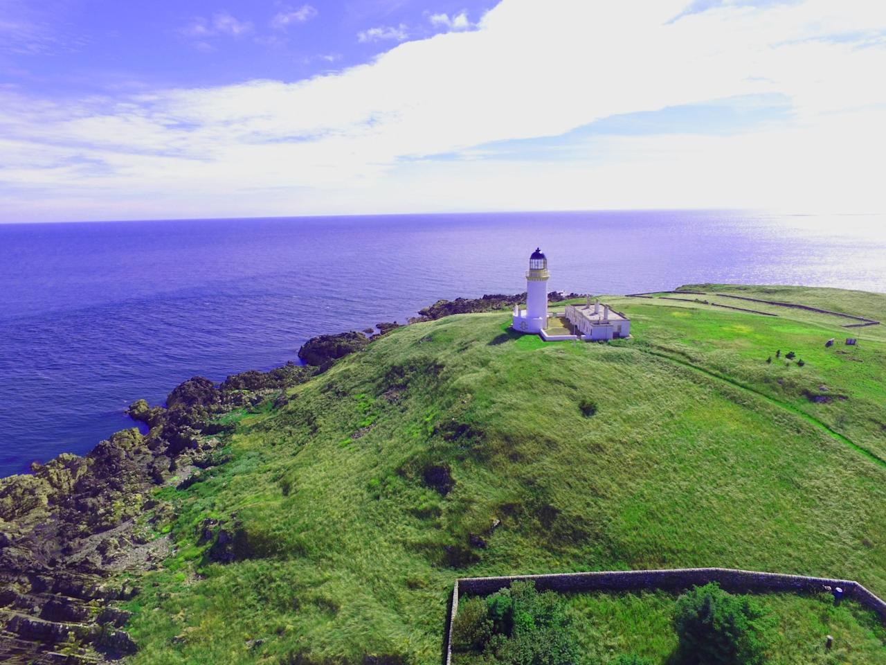 <p>The 29-acre island is home to a 19th-century, fully automated lighthouse tower. </p>