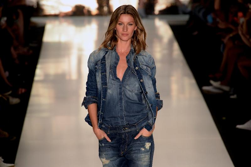 Brazilian supermodel Gisele Bundchen, the world's top-earning model, will take her final sashay down the runway at Sao Paulo Fashion Week (SPFW), the same event where she made her debut 20 years ago (AFP Photo/Nelson Almeida)