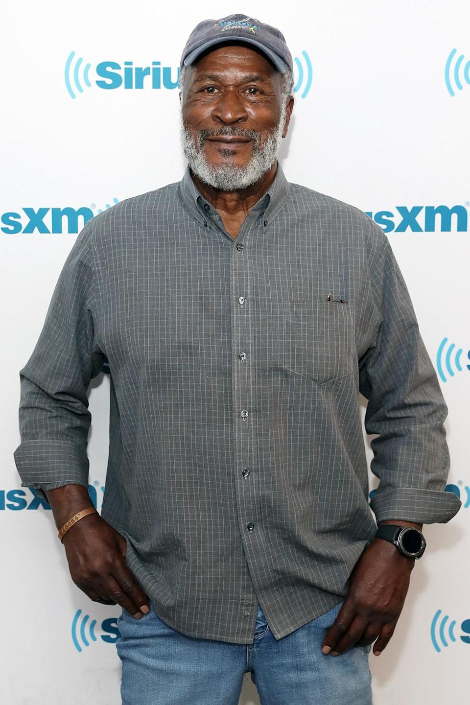 """<p>Actor John Amos once aspired to a career in football, and actually tried out for the Kansas City Chiefs twice, <a href=""""https://www.kansascity.com/entertainment/ent-columns-blogs/stargazing/article304752/Chiefs-coach-Stram-sparked-actor-John-Amos%E2%80%99-creativity.html"""" rel=""""nofollow noopener"""" target=""""_blank"""" data-ylk=""""slk:according to the Kansas City Star."""" class=""""link rapid-noclick-resp"""">according to the <em>Kansas City Star.</em></a></p>"""