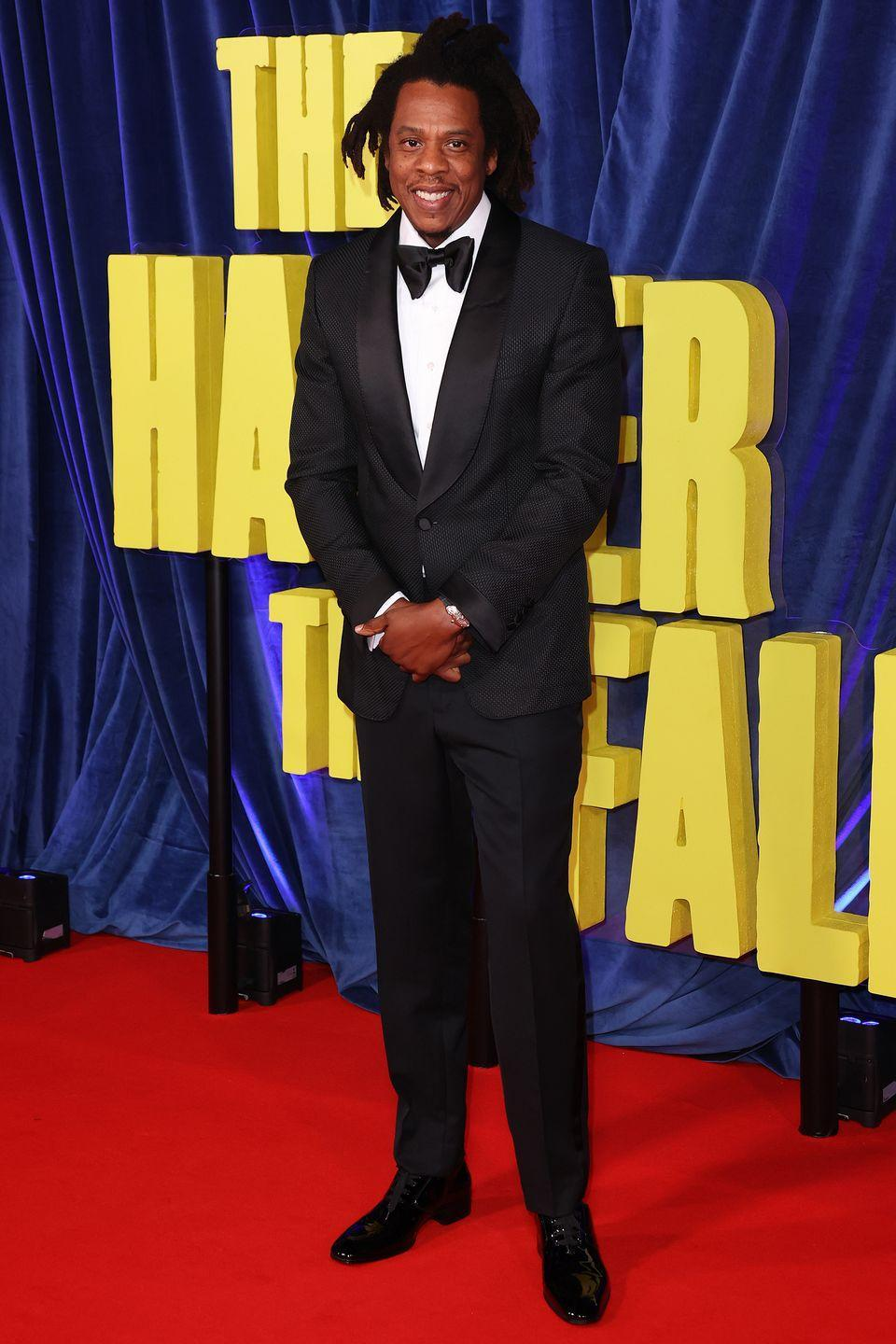 <p><strong>6 October </strong></p><p>Jay-Z kept things classic in a black tuxedo. </p>
