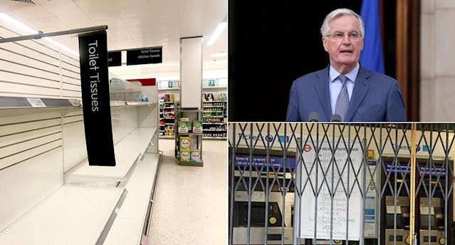 Waitrose has announced limits on the purchase of some items, Michel Barnier has contracted Covid-19 and dozens of Tube stations have been closed in London. (PA Images)