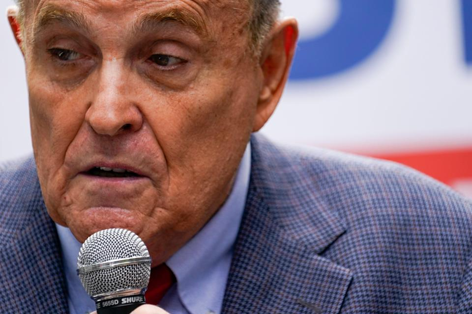 Licencia Giuliani-Law suspendida (Copyright 2021 The Associated Press. All rights reserved.)