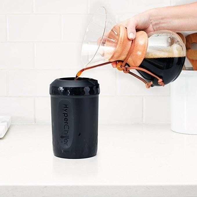 """Use this tool to cool your favorite drink in less than a minute. A must-have if you prefer to drink iced coffee all year. Yes, that includes when it's 25 degrees out in the middle of January.<br /><br /><strong>Promising review:</strong>""""I'm the type of person who loves ice coffee any day and I like to take my time drinking it. This Hyperchiller has truly changed my life! It's super easy to put together and clean! Also, the fact that you can pour your hot coffee directly into it is amazing!<strong>It's super fast at making your coffee cold, and it never tasted watered down at all!</strong>I am so amazed and happy by this invention, 100% recommend everyone buys it."""" —<a href=""""https://www.amazon.com/dp/B07FJ6J24R?tag=huffpost-bfsyndication-20&ascsubtag=5890048%2C9%2C36%2Cd%2C0%2C0%2C0%2C962%3A1%3B901%3A2%3B900%3A2%3B974%3A3%3B975%3A2%3B982%3A2%2C16492492%2C0"""" target=""""_blank"""" rel=""""noopener noreferrer"""">Catherine D.</a><br /><br /><strong>Get it from Amazon for<a href=""""https://www.amazon.com/dp/B07FJ6J24R?tag=huffpost-bfsyndication-20&ascsubtag=5890048%2C9%2C36%2Cd%2C0%2C0%2C0%2C962%3A1%3B901%3A2%3B900%3A2%3B974%3A3%3B975%3A2%3B982%3A2%2C16492492%2C0"""" target=""""_blank"""" rel=""""noopener noreferrer"""">$24.99.</a></strong>"""