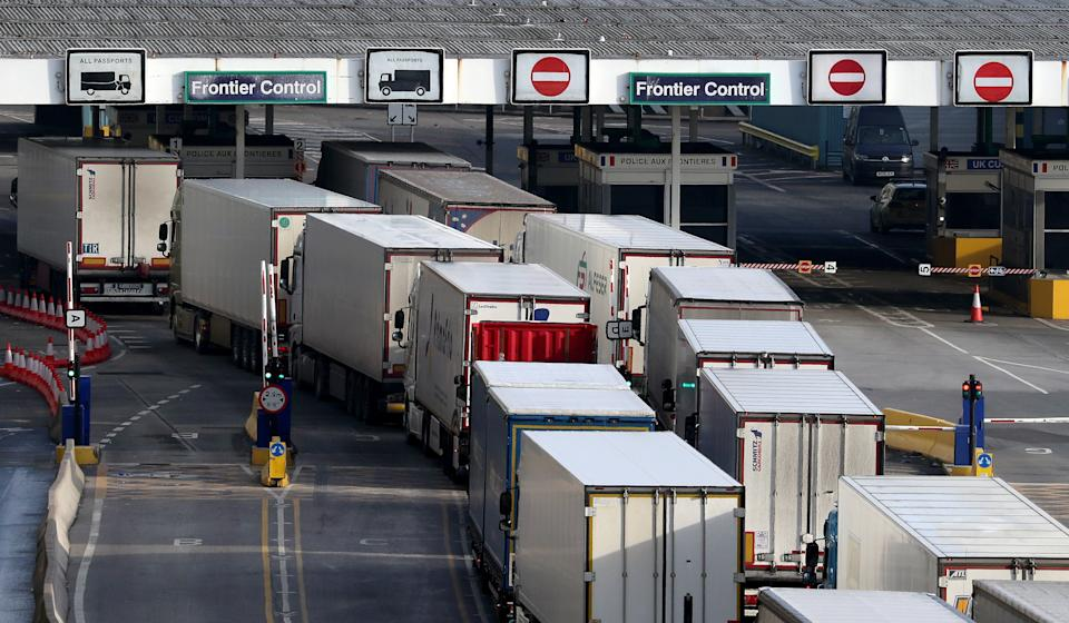 <p>Supermarkets have warned the trade deal is'pretty much unworkable'. as gaps appear in fresh produce aisles</p> (PA)