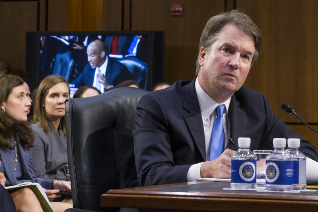 Supreme Court nominee Brett Kavanaugh testifies during the second day of his Supreme Court confirmation hearing. (Photo: Zach Gibson/Getty Images)