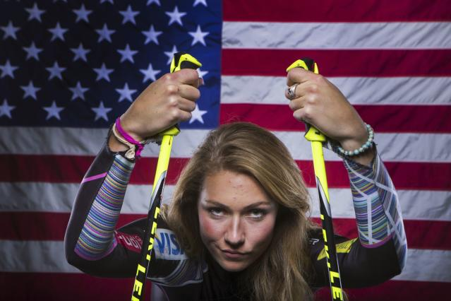 Olympic alpine skier Mikaela Shiffrin poses for a portrait during the 2013 U.S. Olympic Team Media Summit in Park City, Utah October 2, 2013. REUTERS/Lucas Jackson (UNITED STATES - Tags: SPORT OLYMPICS PORTRAIT SKIING)
