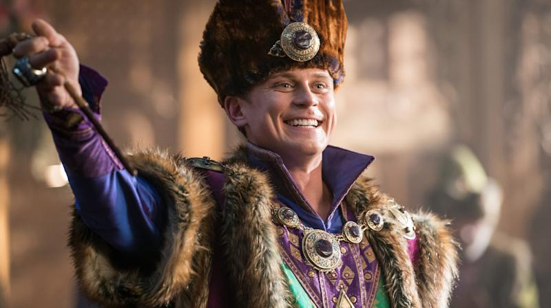 Billy Magnussen as Prince Anders in Aladdin. (Photo: Disney)