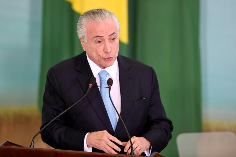 Federal police says it has evidence Brazil's Temer received bribes