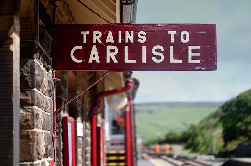 The journey links Crewe with the border city of Carlisle via the spectacular Settle and Carlisle Railway - getty