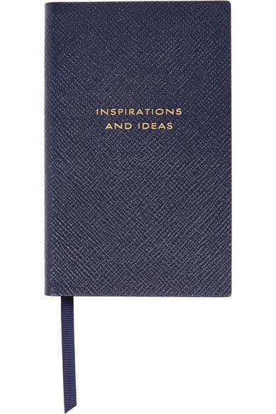 "<p>Much more chic than jotting down notes on you phone. <a href=""http://www.net-a-porter.com/us/en/product/585412/Smythson/panama-inspirations-and-ideas-textured-leather-notebook"" rel=""nofollow noopener"" target=""_blank"" data-ylk=""slk:Smythson Panama Notebook"" class=""link rapid-noclick-resp"">Smythson Panama Notebook</a> ($80)</p>"