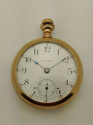 Waltham-Watch-Gold-Plated-Antique-Pocket-Watch