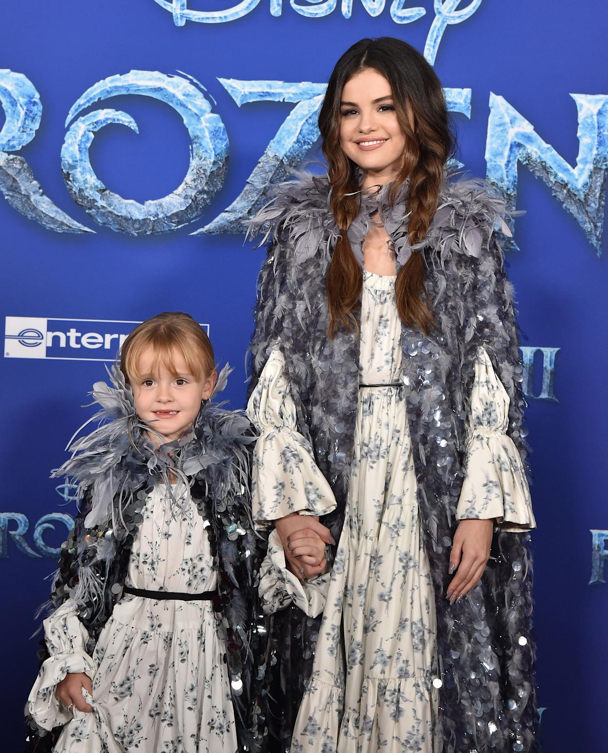 """Gracie Teefey and Selena Gomez attend the premiere of Disney's """"Frozen 2"""" on Nov. 7 in Hollywood, California. (Photo: Axelle/Bauer-Griffin via Getty Images)"""