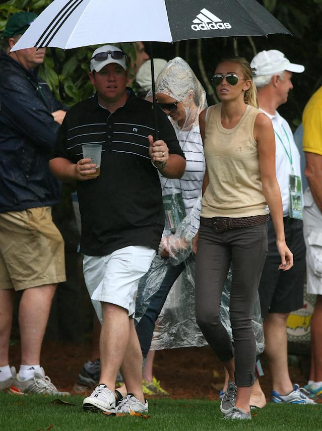 AUGUSTA, GA - APRIL 12: Paulina Gretzky walks the course during the second round of the 2013 Masters Tournament at Augusta National Golf Club on April 12, 2013 in Augusta, Georgia. (Photo by Mike Ehrmann/Getty Images)