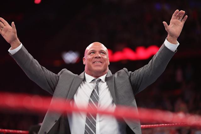 Kurt Angle returned to WWE earlier this year. (International Business Times)