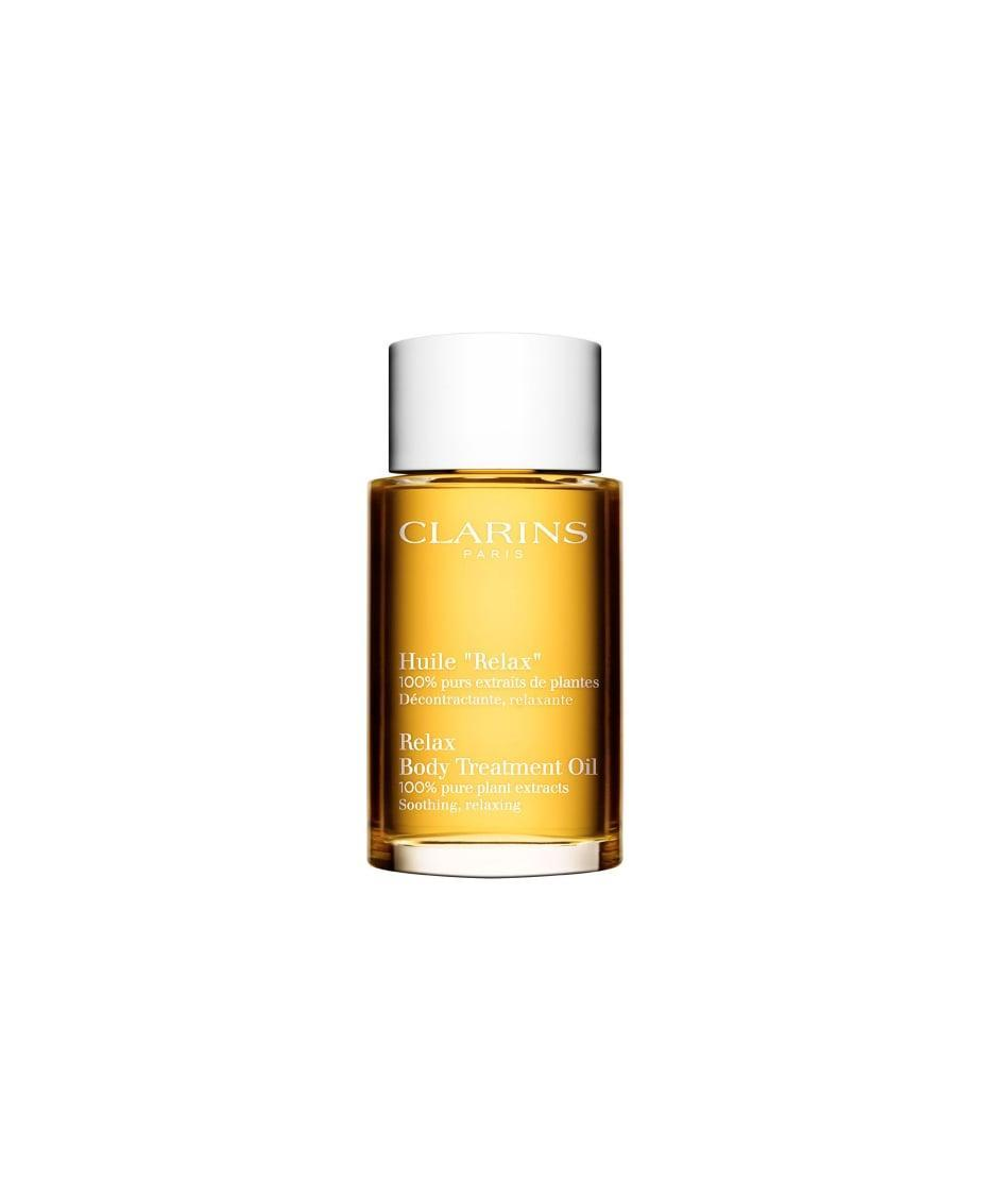 <p>Rub this <span>Clarins Relax Body Treatment Oil</span> ($66) to feel calm and moisturized from head to toe.</p>