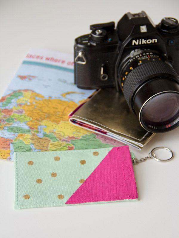 """<p>And when it comes to her traveling luggage, upgrade a dollar-store luggage tag with metallic and neon paint and she'll have a reminder of you while on the road. </p><p><em><a href=""""http://lovelyindeed.com/diy-polka-dot-luggage-tags/"""" rel=""""nofollow noopener"""" target=""""_blank"""" data-ylk=""""slk:Get the tutorial at Lovely Indeed »"""" class=""""link rapid-noclick-resp"""">Get the tutorial at Lovely Indeed »</a></em> </p>"""