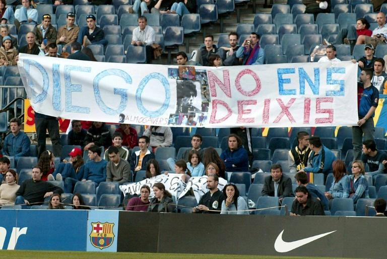 In 2004, when Maradona suffered a health scare, Barcelona fans pleaded with him in Catalan not to die