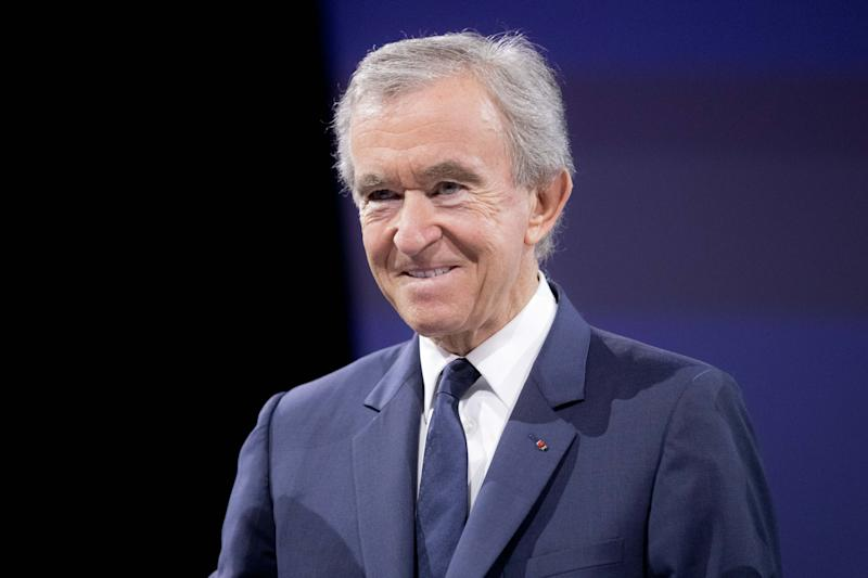 PARIS, FRANCE - JUNE 16: Bernard Arnault Chairman and CEO of LVMH, attends a conference during Viva Technology at Parc des Expositions Porte de Versailles on June 16, 2017 in Paris, France. Viva Technology is a fair that brings together, for the second year, major groups and startups around all the themes of innovation. (Photo by Christophe Morin/IP3/Getty Images)