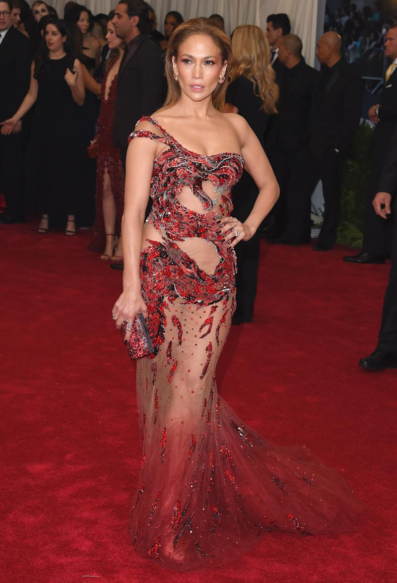 She's claimed the illusion dress for her own these past few years. Rihanna and Beyoncé had better watch their backs. Jennifer Lopez in Atelier Versace at the Metropolitan Museum of Art Costume Institute Gala in New York, New York, May 2015. Photo by Axelle/Bauer-Griffin/FilmMagic.
