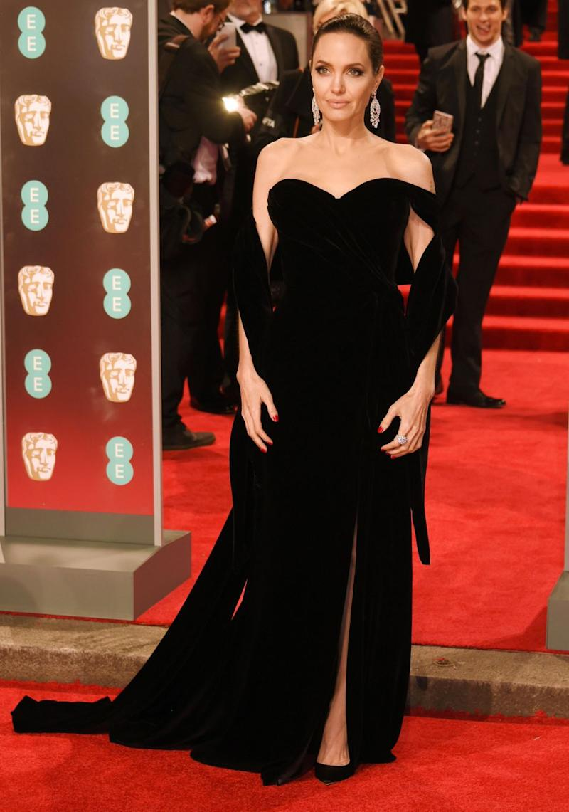 Angelina Jolie exuded ultimate confidence as she stepped out at the 2018 BAFTA Awards in London on Sunday. Source: Getty