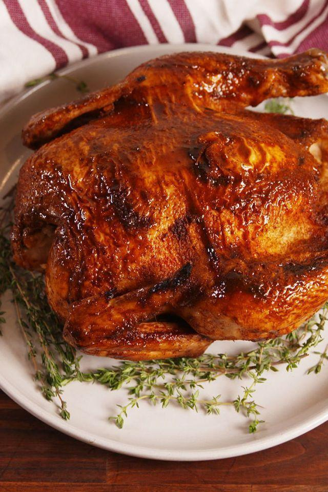 "<p>All the flavours without the rotisserie.</p><p>Get the <a href=""https://www.delish.com/uk/cooking/recipes/a30440664/slow-cooker-rotisserie-chicken-recipe/"" rel=""nofollow noopener"" target=""_blank"" data-ylk=""slk:Slow Cooker Whole Chicken"" class=""link rapid-noclick-resp"">Slow Cooker Whole Chicken</a> recipe.</p>"