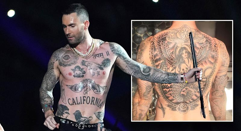 61b6a8862 Everything we know about Adam Levine's many, many tattoos