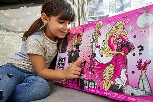 """<p><strong>Barbie</strong></p><p>amazon.com</p><p><strong>$44.95</strong></p><p><a href=""""https://www.amazon.com/dp/B07NW9MYBM?tag=syn-yahoo-20&ascsubtag=%5Bartid%7C10067.g.33853499%5Bsrc%7Cyahoo-us"""" rel=""""nofollow noopener"""" target=""""_blank"""" data-ylk=""""slk:Shop Now"""" class=""""link rapid-noclick-resp"""">Shop Now</a></p><p>Get all dolled up this holiday with this advent calendar which includes Barbie and everything kids need to dress her up for the festive season. </p>"""