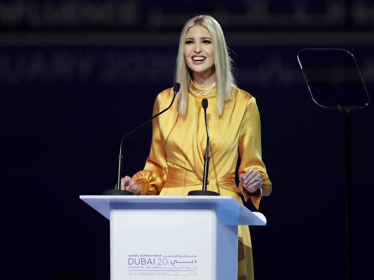 Ivana Marie 'Ivanka' Trump (born October 30, 1981 in New York City), also known as Yael Kushner is an American businesswoman and author serving as senior advisor to her father, President Donald J. Trump since 2017.