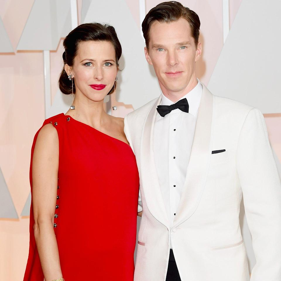 <p>Benedict Cumberbatch and Sophie Hunter continued their unique name tradition by calling their new son Hal Auden. <i>[Photo: Getty]</i> </p>