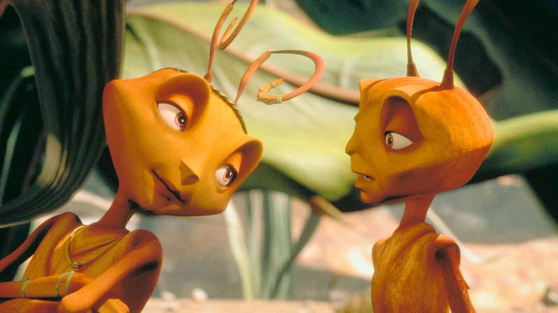 Jennifer Lopez and Woody Allen in Antz (credit: DreamWorks Pictures)