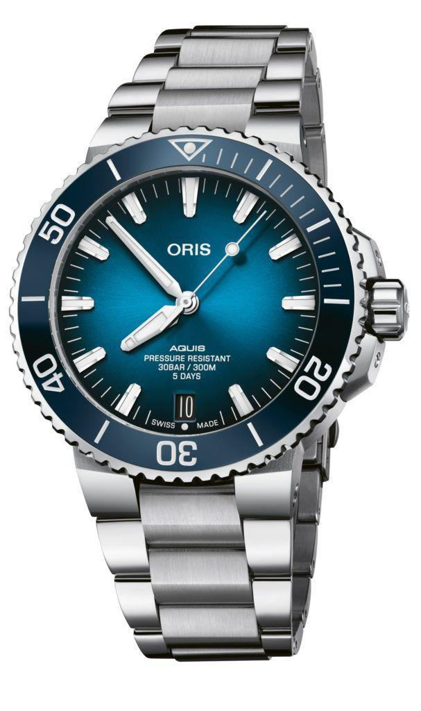 """<p>Already the leaders in sensibly priced luxury, this year Oris left the competition still further behind by launching its own in-house movement – minus the significant price hike that usually accompanies. The Calibre 400 offered a substantial five-day power reserve, automatic winding and anti-magnetic design comprised of 30 specialised parts. The first watch to benefit was this Aquis Date, one of Oris' excellent steel dive watches. Another win for the small, independent watchmaker that puts watch fans at the forefront of everything it does.</p><p>£2,700; <a href=""""https://www.oris.ch/"""" rel=""""nofollow noopener"""" target=""""_blank"""" data-ylk=""""slk:oris.ch"""" class=""""link rapid-noclick-resp"""">oris.ch</a></p>"""