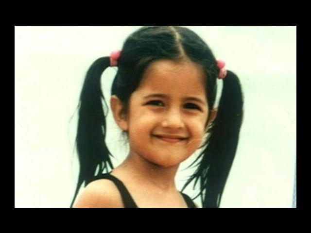 7. One of the cutest smiles of the present Bollywood brigade – Katrina Kaif was even cuter as a kid. Born on 16th July, 1984 – Kaif was born in Hong Kong to a Kashmiri father and an English mother. Her parents divorced when she was just a kid.